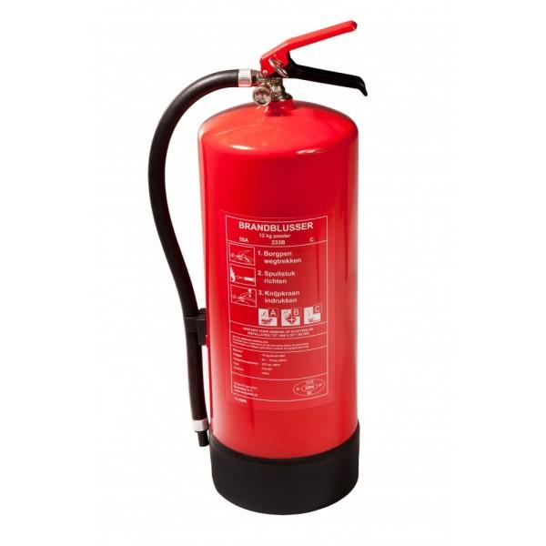 Brandblusser poeder 12 kg.